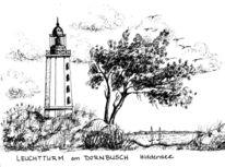 Hiddensee, Leuchtturm, Dornbusch, Ostsee