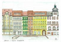 Markt, Thüringen, Architektur, Jena