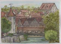 Württemberg, Schwäbisch hall, Altstadt, Stadtansicht