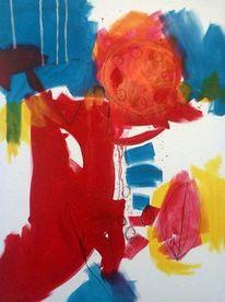 Organische formen, Abstrakt, Malerei, Mischtechnik