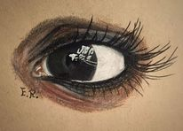 Augen, Braun, Zeichnung, Zeichnungen