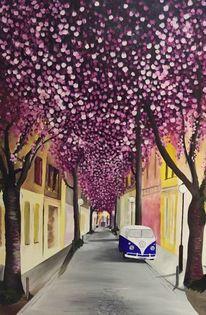 Heerstraße, Vw, Kirschblütenfest, Bulli