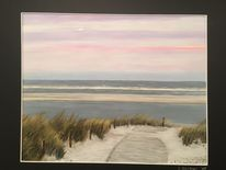 Strand, Sonnenuntergang, Nordsee, Langeoog