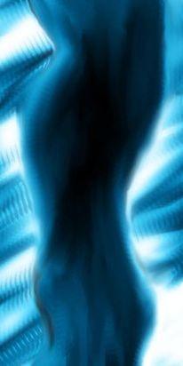 Akt, Blau, Figural, Digitale kunst