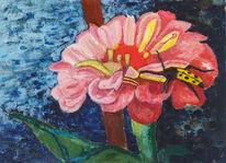 Käfer, Enkaustik, Blumen, Blüte