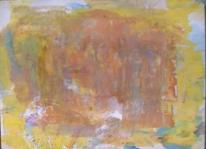 Informel, Abstrakter expressionismus, Abstrakte malerei, Ocker