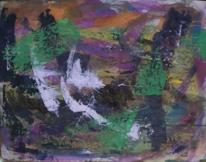 Abstrakte malerei, Gouachemalerei, Abstrakter expressionismus, Malerei