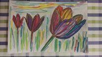Blumen, Abstrakt, Malerei, Aquarell