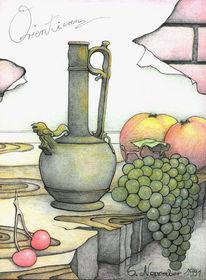 Stillleben, Zeichnung, Fantasie, Zeichnungen