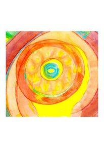 Amarillo, Spirale, Expresionismo, Aquarellmalerei