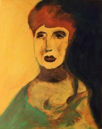 Ölmalerei, Acrylmalerei, Frau, Portrait