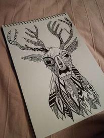 Weihnachten, Rentier, Zeichnungen,