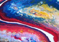 Blau, Gelb, Rot, Malerei