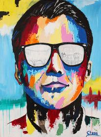 Portrait, Malerei, Acrylmalerei
