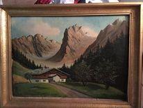 Holz, Malerei, Landschaft, Malen