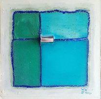 Kühl, Glas, Blau, Frisch