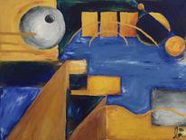 Abstrakt, Braun, Kreis, Acrylmalerei