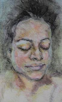Studie, Farben, Buntstiftzeichnung, Zeichnungen