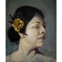 Portrait, Malerei, Porträtmalerei, Ölmalerei