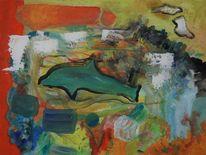 Delfin, Bunt, Abstrakt, Malerei