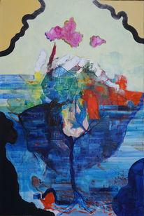 Meer, Welt, Wolken, Malerei