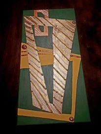 Malerei modern, Hochformat, Farben, Linie