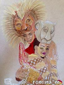 Zeichnung, Disney, Polychromos, König
