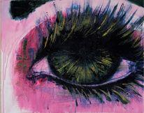 Wimpern, Augen, Pink, Gold