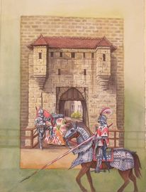 Mythologie, Burg, Fantasie, Ritter