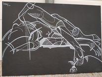Schwarzweiß, Menschen, Zeichnungen, Frau