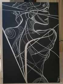 Frau, Schwarzweiß, Menschen, Zeichnungen