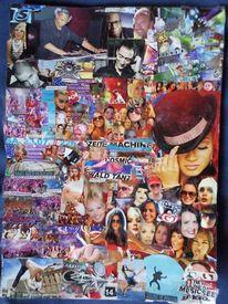 Bunt, Collage, Farben, Techno