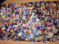 Bunt, Collage, Farben, Mischtechnik