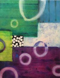 Abstrakt, Modern art, Malerei acryl, Farben