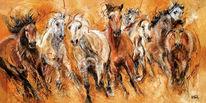Pferde, Pferdeportrait, Pferdeherde, Malerei