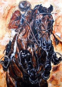 Tiere, Springpferd, Pferde, Pferdeportrait