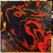 Malen, Abstrakt, Goa, Temperamalerei