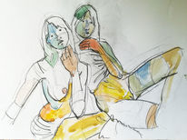 Menschen, Simone, Malerei, Figur