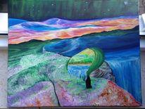 Bunt, Landschaft, Multi, Malerei