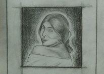 Bleistiftzeichnung, Skizze, Menschen, Zeichnungen