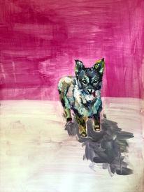 Pink, Modern, In arbeit, Hund