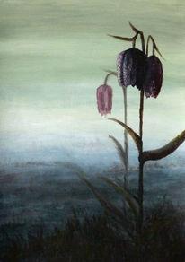 Schachbrettblume, Natur, Moor, Acrylmalerei