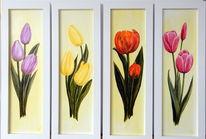 Gelb, Rot, Rosa, Lila