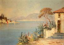 Landschaft, Aloe vera, Unterschrift, Pinnwand