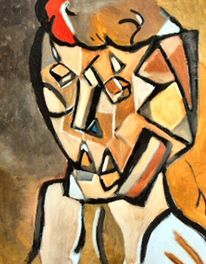 Gelb, Malerei, Grau, Kubismus