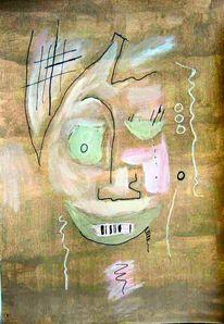 Studie, Portrait, Abstrakt, Malerei