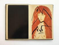 Monika, Portrait, Zeichnungen,