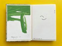 Malerei, Gelb, Grün, Februart