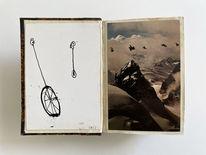 Alpenüberquerung, Einrad, Zeichnungen,