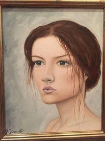 Augen, Mädchen, Malerei, Dame